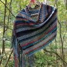 Szale, apaszki szydełkowy szal,rękodzieło,navajo,hippie,boho