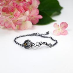srebrna bransoletka w stylu boho - Bransoletki - Biżuteria