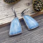 Kolczyki niebieski opal,srebro,kolczyki