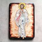 Ceramika i szkło Beata Kmieć,ikona ceramiczna,Jezus