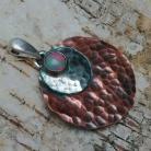Wisiory miedź,srebrny,srebro,opal,delikatny,blask,metal