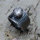 Pierścionki cyrkonia,retro,srebnry,srebro,blask,unikat,okazały