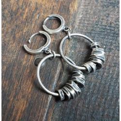kolczyki wiszące,kolczyki koła - Kolczyki - Biżuteria