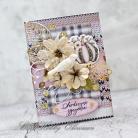 Kartki okolicznościowe życzenia,urodziny,imieniny,kwiaty,rustykalna,