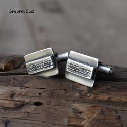 srebrne spinki,retro biżuteria, - Dla mężczyzn - Biżuteria