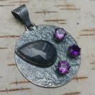 Wisiory ametyst,srebrny,blask,fioletowy,szafir,minerał