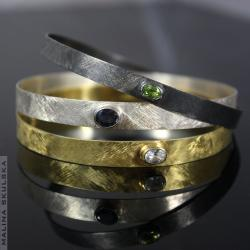 komplet,zestaw,iolit,perydot,oliwin,kwarc,kryształ - Bransoletki - Biżuteria