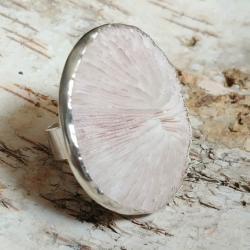pierścień GRZYBOWY KORAL,srebro,fungi,srebrny - Pierścionki - Biżuteria