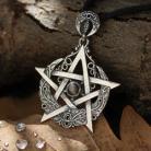 Wisiory pentagram,obsydian,księżycowy,księżyc,magia