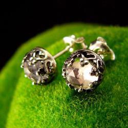 nehesi,kolczyki,srebrne,srebra,górski,wkrętki - Kolczyki - Biżuteria