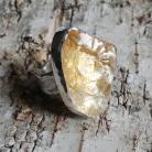 Pierścionki cytryn,blask,żółty,srebrny,srebro,delikatny,złoty