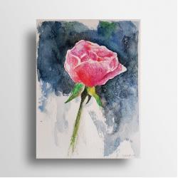 akwarela,róża - Obrazy - Wyposażenie wnętrz
