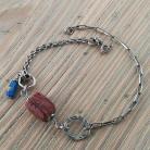 Bransoletki bransoletka ze szkłem afgańskim,antycznym
