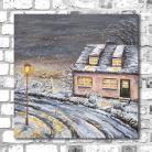 Obrazy krajobraz,zima,zimowy,uliczka