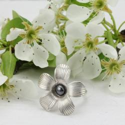 biżuteria z kwiatami,pierścionek kwiat - Pierścionki - Biżuteria