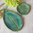 Ceramika i szkło liść,liść ceramiczny,zielony liść