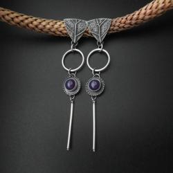 kolczyki,biżuteria srebrna,dodatki,rękodzieło - Kolczyki - Biżuteria
