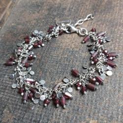 bransoletka z granatami,bransoletka na prezent - Bransoletki - Biżuteria