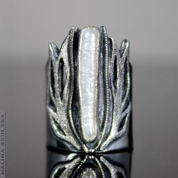 okazały,ażurowy,perła,regulowany,bajeczny,roślinny - Pierścionki - Biżuteria