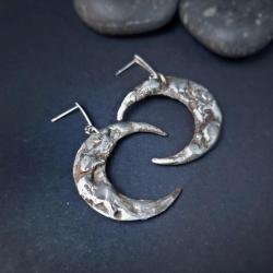 kolczyki księżyce biżuteria symboliczna mocy - Kolczyki - Biżuteria