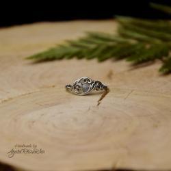 pierścionek,regulowany,labradoryt,stal - Pierścionki - Biżuteria
