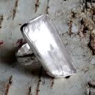Pierścionki kunzyt,kryształ,spodumen,blask,srebro,okazały,