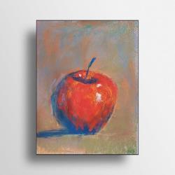 obraz jabłko,martwa natura,pastele - Ilustracje, rysunki, fotografia - Wyposażenie wnętrz