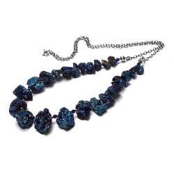 elegancki,kamienie,minerały,druzy - Naszyjniki - Biżuteria