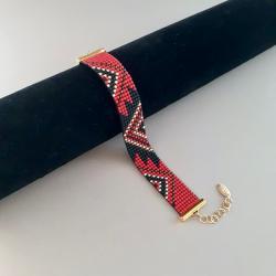bransoletka tkana,na krośnie,z koralików - Bransoletki - Biżuteria
