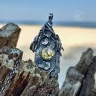 Naszyjniki srebrna biżuteria,mech,natura,las,gałązki
