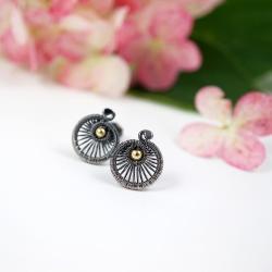 srebrne minimalistyczne kolczyki sztyfty - Kolczyki - Biżuteria