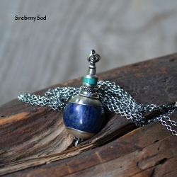 wisior z lapis lazuli,naszyjnik z turkusem - Naszyjniki - Biżuteria