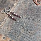 Kolczyki kolczyki wiszące,srebro,granaty,kolczyki długie