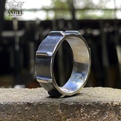 biżuteria męska,surowa obrączka męska - Dla mężczyzn - Biżuteria