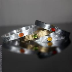 Kolorowe,komplet,kamienie, - Komplety - Biżuteria