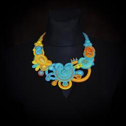 letni naszyjnik,etniczny naszyjnik - Naszyjniki - Biżuteria