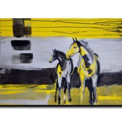 konie,abstrakcja,ręcznie malowane,rysunek, - Ilustracje, rysunki, fotografia - Wyposażenie wnętrz