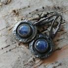 Kolczyki ksieżycowy,księzyc,srebrne,szary,sygnet,błękitne,