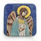 Ceramika i szkło Beata Kmieć,ikona ceramiczna,Anioł,Stróż
