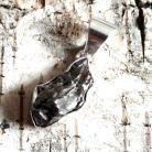 Wisiory meteoryt,blask,czerń,srebrny,szary,srebro,rosyjski