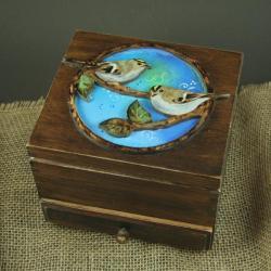 mysikróliki,ptaki,szkatułka - Pudełka - Wyposażenie wnętrz