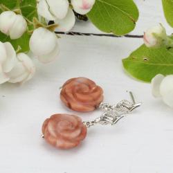 wiosenne kolczyki,kolczyki róże - Kolczyki - Biżuteria