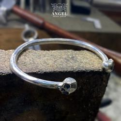 kuta bransoleta męska,masywna srebrna biżuteria - Dla mężczyzn - Biżuteria