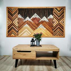 nature,góry,geometryczne,natura,drewno,obraz, - Obrazy - Wyposażenie wnętrz