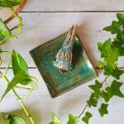 Ceramika i szkło rustykalne dodatki,ceramika,pod kadzidła,