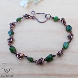 miedź,chainmaille,nowoczesna biżuteria,JewelsbyKT - Bransoletki - Biżuteria
