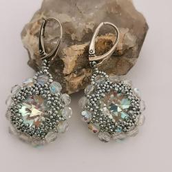 Kolczyki Kryształowe Kwiaty Prociosa Srebro - Kolczyki - Biżuteria