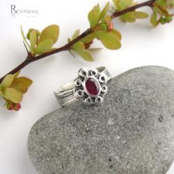 rubin,pierścionek - Pierścionki - Biżuteria