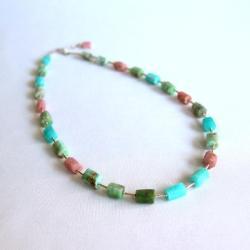 kolorowy,pastelowy,romantyczny,cukierkowy - Naszyjniki - Biżuteria