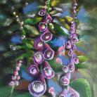 Ilustracje, rysunki, fotografia na ścianę,obraz,kolorowe,wnętrze,ogród,kwiaty